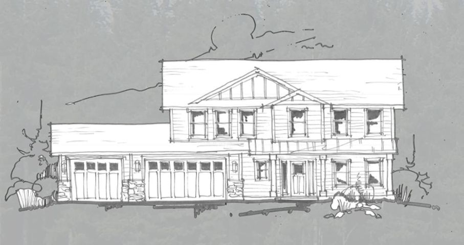 Timber accented homes with available shops to be built, features include, granite countertops thru out with under mount sink, knotty alder cabinets with 42'' uppers and 3 1/2'' crown molding, stained solid core 3-panel doors, 9 foot ceilings, stone 42'' wainscot on garage, laminate flooring in entry, living, dining and kitchen and vaulted, 95% gas forced air furnace, front yard landscaping and sprinkler system.