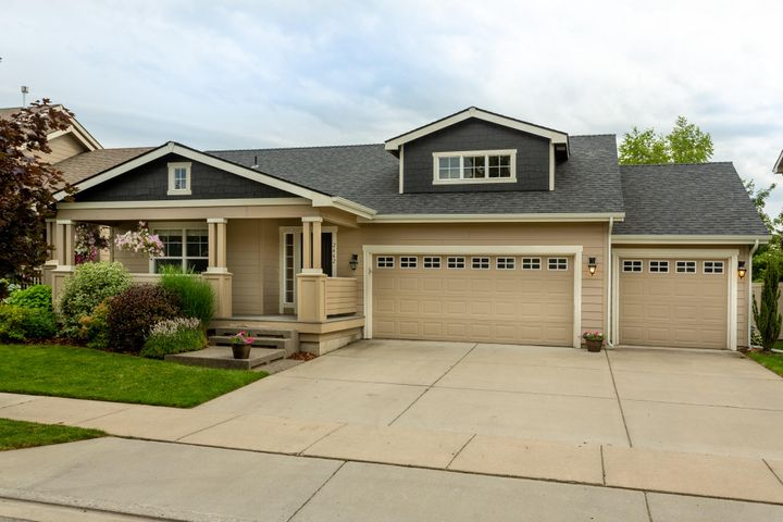 Rancher with full basement in excellent Coeur d'Alene Place location! One-of-a-kind floor plan, 5BD 3BA 3700+sq ft, beautiful floors, built-in entertainment center, wainscoting, and other wonderful details including a 3-car garage and fully finished basement! Hardwood flooring, main floor master, sprinkler system, landscaping. A MUST SEE!