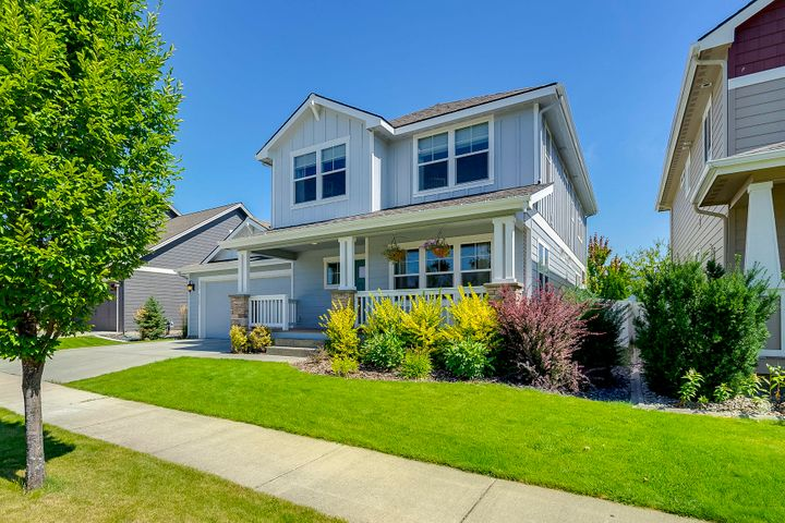 Location...Location...Location... 3015 sq. ft. Coeur d'Alene Place two-story plus finished basement! This home is move in readyfeaturing 4 bedrooms-3.5 baths loaded with many wonderful amenities. Open main-floor great room with gas fireplace, a kitchen thathas an abundance of cupboard space, walk in pantry, quartz counter tops and stainless steel appliances. Upstairs laundry roomconveniently located near the bedrooms, generous master-suite includes a dual vanity with dual shower heads, separate sunken tub, and nice walk-in closet. The spacious downstairs family room includes a wet bar for entertaining, great storage area plus a 4th bedroom and a full bath. The 4 car tandem garage includes storage shelves and plenty of room for toys. Fully landscaped an fenced. This home has it all!