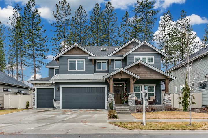 The highly sought after Sequoia in the ''Pines'' at Coeur d'Alene Place. The floor plan boasts 3,120 sqft, 4 bedrooms, 2.5 bathrooms, a 3 car garage. An open concept and easy flow of the main floor including a kitchen with high end appliances; a pantry, breakfast bar and easy access to the covered patio with beautiful views and vibrant sunsets. A large mudroom/drop zone with a 2nd pantry/storage area off the kitchen offering extra storage. A main floor private office & a half bath with a downstairs space designed for a formal and informal dinning area. 4 bedrooms upstairs including a master suite with a soaking tub, separate tiled shower, walk-in closet and heated tile floors.