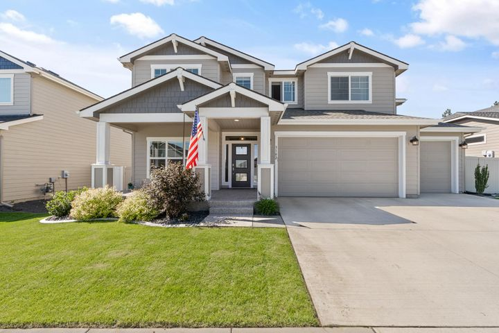 The highly sought after Sequoia floor plan in Coeur d'Alene Place offers 3,198 square feet, 4 bedrooms, 2.5 bathrooms and 3 car garage. Large & open spaces including a kitchen w/pantry, breakfast bar & easy access to the patio. A large mudroom/drop zone in conveniently located between the garage & Kitchen. A den & a half bath complete the main floor. Retreat upstairs to the master suite with a soaking tub, separate shower, water closet & a walk-in closet. A loft/family room upstairs as well as the over-sized laundry room make this space inviting & functional. Coeur d'Alene Place offers a proud tradition of neighborhood integrity, featuring thousands of trees, acres of parks and miles of walkways connecting you to the KROC Center & downtown Coeur d'Alene.
