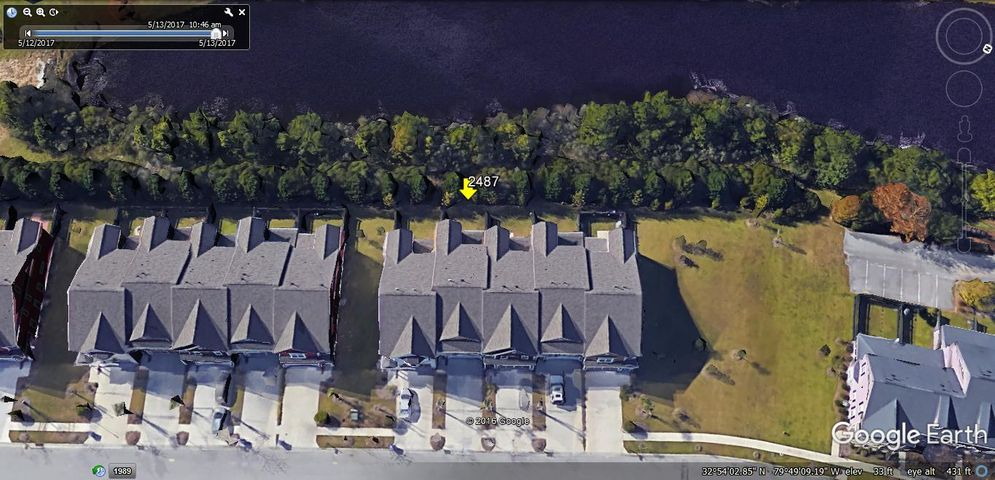 Aerial View of Townhome on Pond