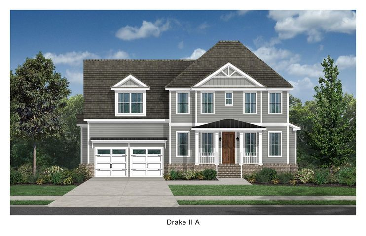 Artist Rendering of the Drake II, Elevation A.
