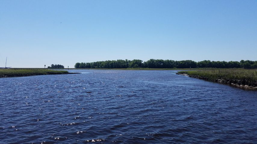 Awendaw Creek opens up into the Intracoastal Waterway!