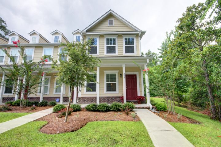 Exceptional exterior unit townhome with welcoming front porch