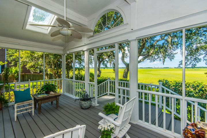 GORGEOUS BACK PORCH OVERLOOKING THE MARSH AND RIVER