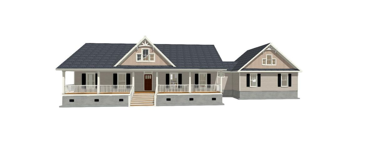 B&B Siding in gables sets this house apart.