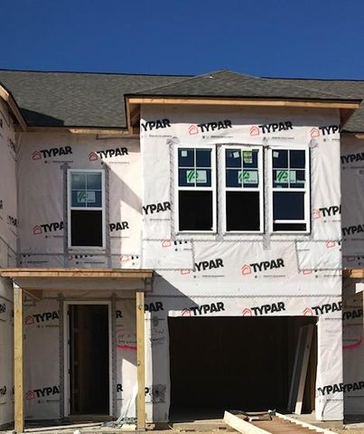 Front view of townhome