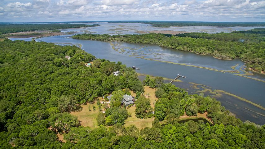 Over 18 peaceful acres on Church Creek, which offers DEEP WATER access to the Intracoastal and the Atlantic Ocean.