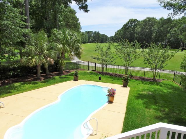 5 ft fiberglass heated saltwater pool with stunning 13th hole views.
