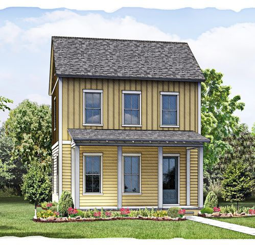 Rendering of home under construction.
