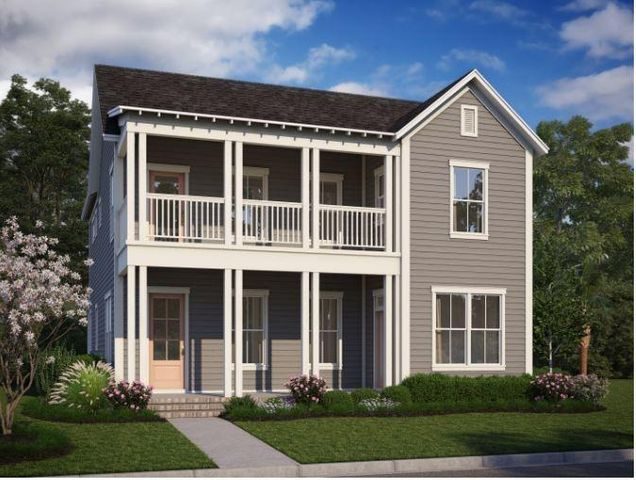 The Shepard C with double front porch. Artist rendering