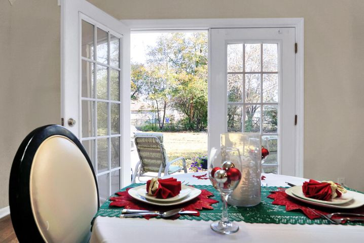 Beautiful view from your dining area