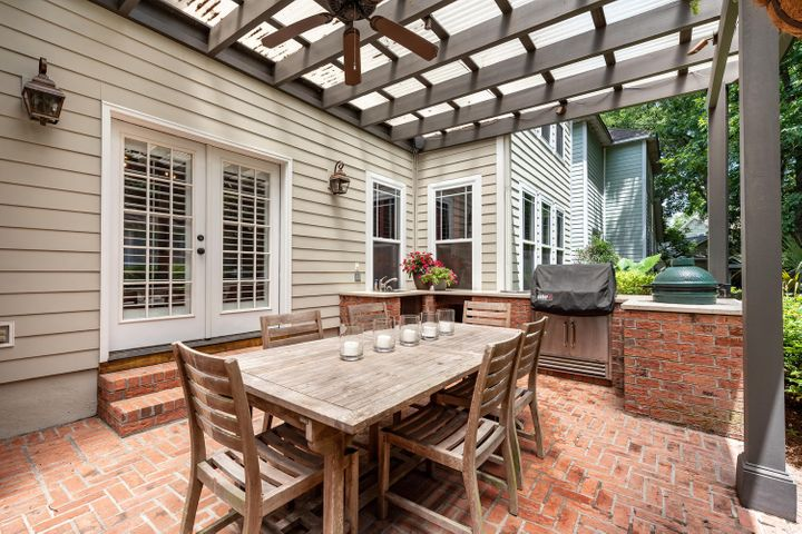 Summer Kitchen with French Doors leading to Breakfast Room
