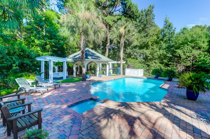 Oasis backyard with built in pool and spa with resurfacing and landscape