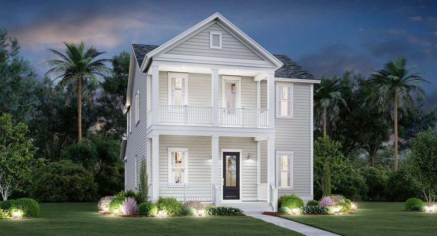 The Ashley - Elevation C with Double Front Porches