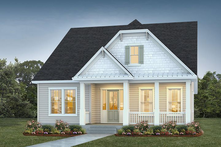 Rendering of home to be built on the site
