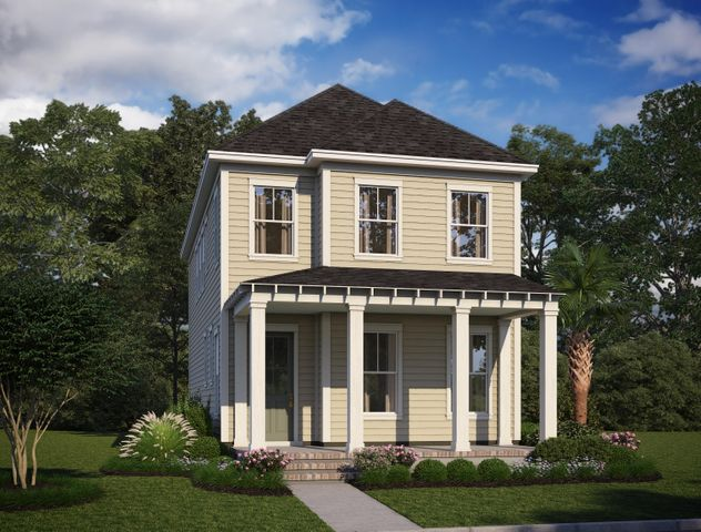 Rendering of exterior, not of actual home.