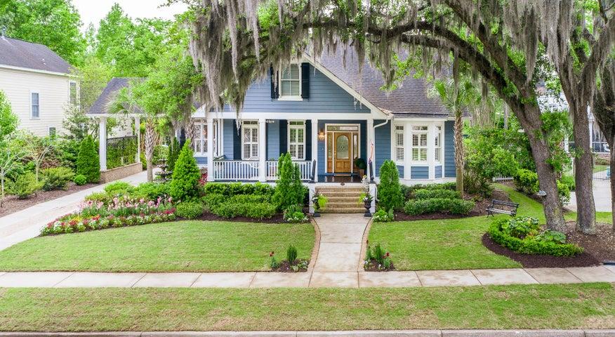 Southern Oaks and Spanish Moss drape this beautiful Daniel Island Home.