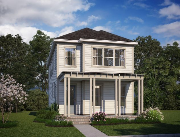 Rendering of home while under construction