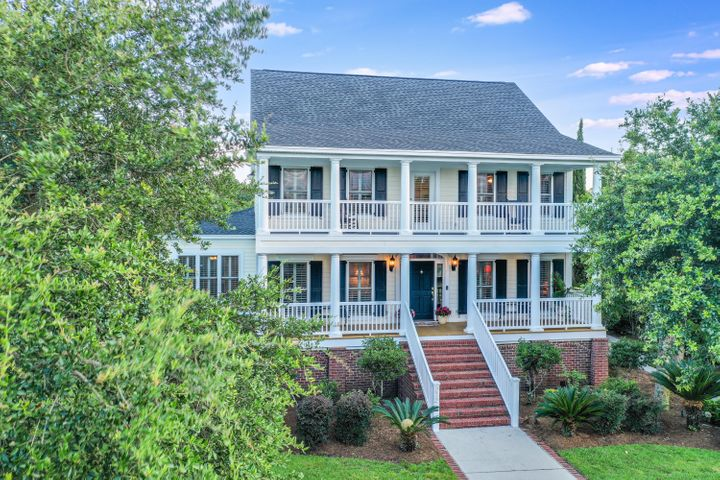 Stately double porches. Master has an exit to the outside.