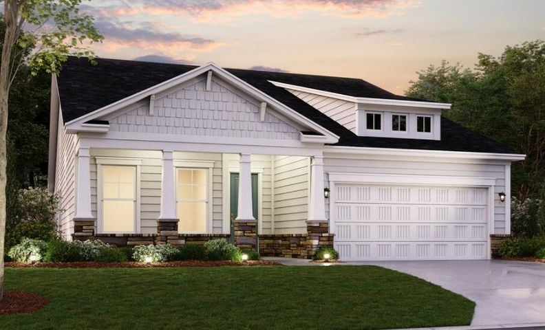 Rendering of Elevation under construction for Lot 146 - Exterior Colors will vary.