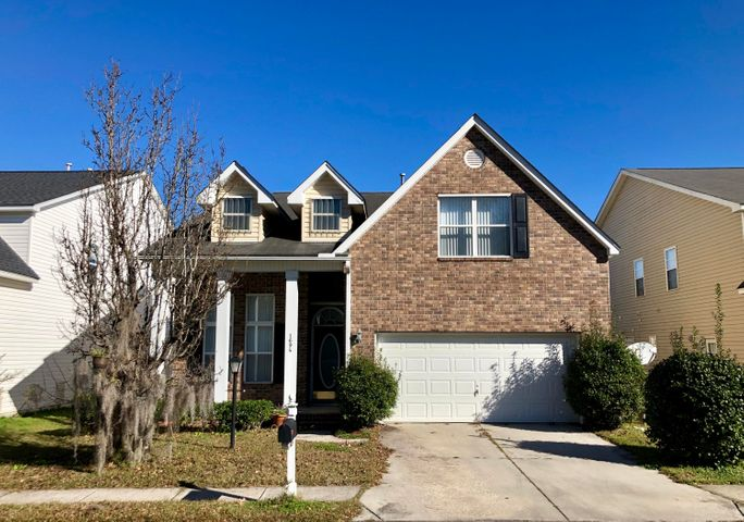"This home is located on a quiet street in the highly desired Providence Commons Subdivision. Step into the home from the covered front porch and notice the 12' ceilings throughout the entire downstairs.  The home features laminate flooring and crown molding in all the living areas downstairs.  There is a large guest bedroom with a triple window at the front of the home adjacent to a full bathroom.  Continue further down the foyer and step into the open dining room with wainscoting and wide arches giving an open concept into the large family room.  The dining room features tray ceiling and the family room centerpiece is the gas fireplace with built in shelves on either side.  The kitchen overlooks both entertaining spaces with a raised bar and wood cabinets.  THIS IS A SHORT SALE. SOLD AS- The short sale is approved through the lender. The master bedroom is located on the first floor with sweeping tray ceilings and a triple window over looking the pond in the back. The master bathroom features a corner garden tub with separate shower with enclosed glass door.  There is a large walk in closet and private toilet room.  The dual vanity has plenty of cabinet and drawer space for ample storage.  Heading upstairs, there are two additional spacious bedrooms that share a full bathroom with a tub/shower combo.  On the rear of the home there is a large screened porch with an adjacent patio. It overlooks a lovely pond that gives a feeling of peaceful relaxation.  There is some cosmetic damage to the home from a previous water issue from a sink overflow and no repairs will be done.  This is a potential short sale that is ""as-is"" and is priced accordingly.  There is excellent potential for this home. The property is located 2 miles Roper St. Francis Hospital, 3 miles to Interstate 526, 13 miles from Downtown Charleston/MUSC, 7.5 miles to Boeing/Charleston Airport, and 16 miles to Folly Beach."
