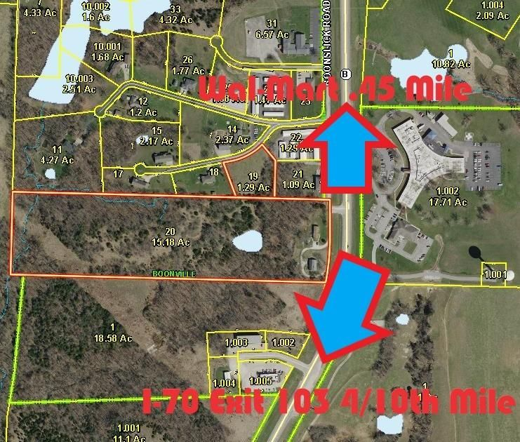 Commercial for sale –   16.47 Acres Boonslick Rd/Hwy B   Boonville, MO