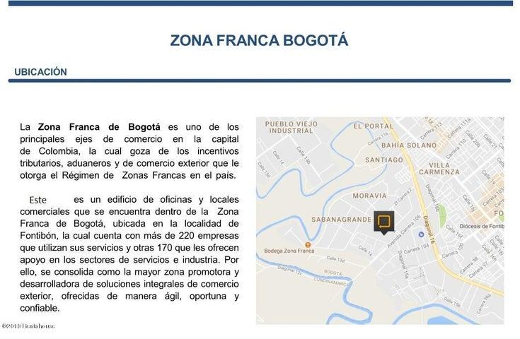 Local Comercial Bogota D.C.>Bogota>Zona Franca - Arriendo:5.627.580 Pesos - codigo: 18-425
