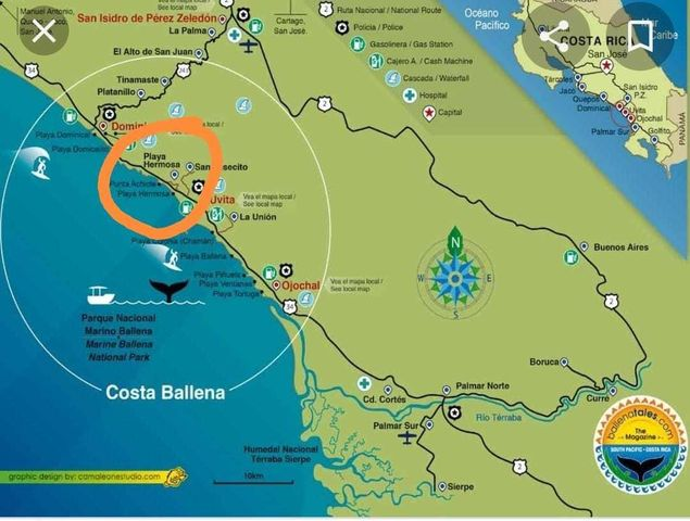 Casa Puntarenas>Playa Hermosa Dominical>Osa - Venta:80.000 US Dollar - codigo: 21-493