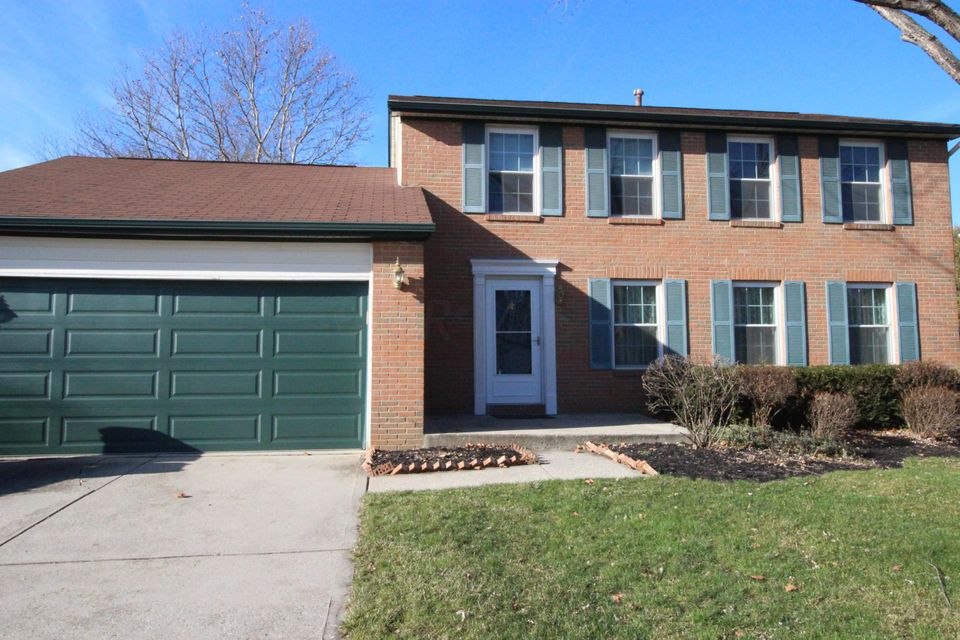 Nice curb appeal for this 2-story brick home in Dublin Schools. Great location and many updates. Welcome Home! | 6863 Gray Gables Lane, Columbus, OH 43235
