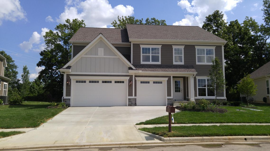 Exquisite front view of brand new custom built Bob Webb home | 3874 Coldwater Loop, Powell, OH 43065