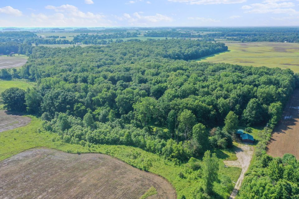 The 19.94 acres is mostly wooded with the exception of 1 acre meadow that is currently a food plot. The 7.86 acre lot with the house on it and the attached 11+ acre buildable lot.   16080 Centerburg Road, Centerburg, OH 43011