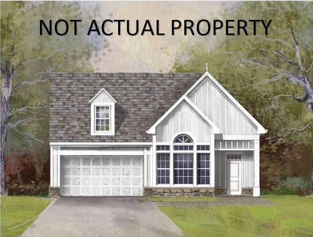 Not Actual Property. Hanover A Floorplan. Hardie Plank siding and stone plinth.