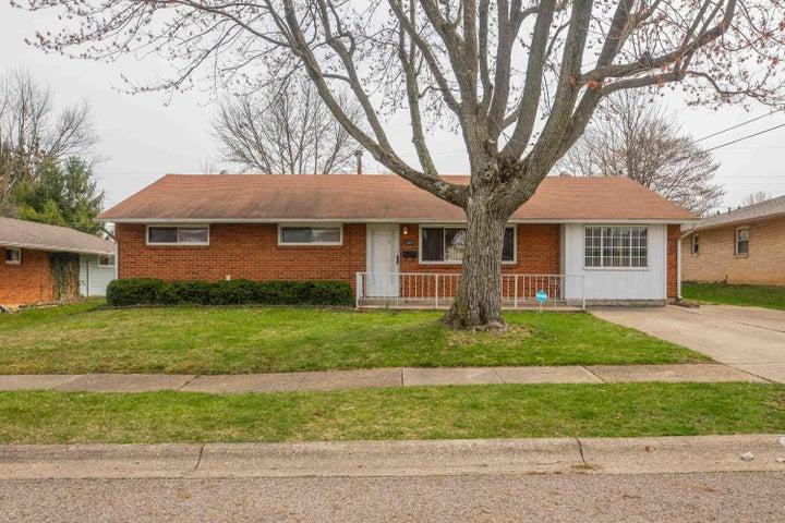 Brick exterior, extra wide driveway!