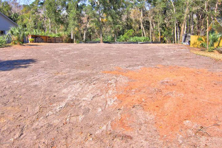 The lot is cleared and leveled, ready for the next step of construction