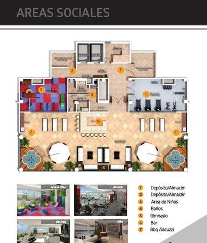 Apartamento Distrito Nacional>Santo Domingo>Evaristo Morales - Venta:215.000 Dolares - codigo: 16-155