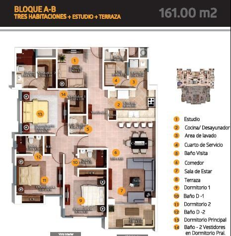 Apartamento Santo Domingo>Distrito Nacional>Evaristo Morales - Venta:194.000 Dolares - codigo: 16-161
