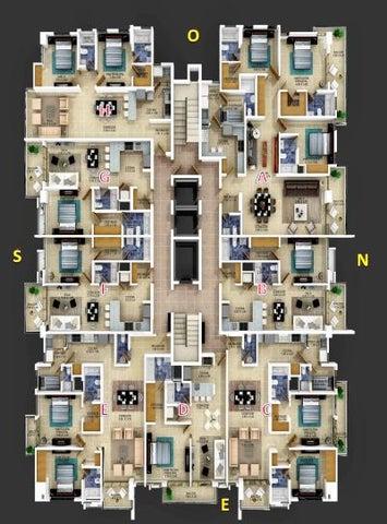 Apartamento Distrito Nacional>Santo Domingo Dtto Nacional>Bella Vista - Venta:116.000 Dolares - codigo: 16-490
