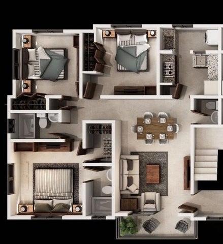 Apartamento Santo Domingo>Santo Domingo Oeste>Juan Pablo Duarte - Venta:2.995.000 Pesos - codigo: 17-381