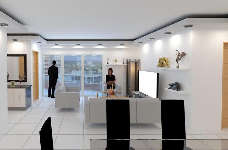Apartamento Santo Domingo>Distrito Nacional>Evaristo Morales - Venta:165.000 Dolares - codigo: 17-605