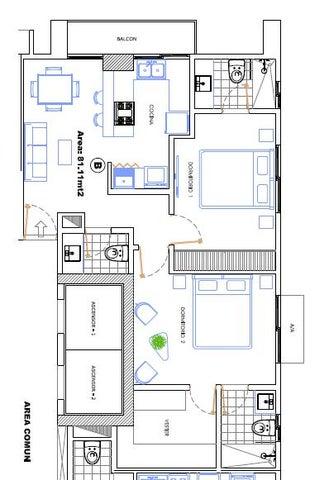 Apartamento Distrito Nacional>Santo Domingo Dtto Nacional>La Julia - Venta:137.000 Dolares - codigo: 17-195