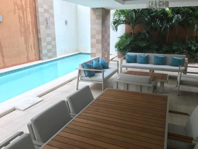 Apartamento Santo Domingo>Distrito Nacional>Piantini - Alquiler:2.600 Dolares - codigo: 18-197
