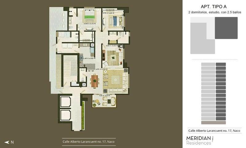 Apartamento Santo Domingo>Santo Domingo Dtto Nacional>Naco - Venta:248.000 Dolares - codigo: 18-510