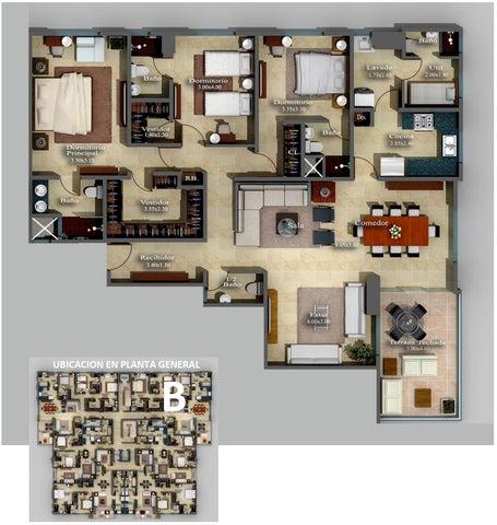 Apartamento Distrito Nacional>Santo Domingo Dtto Nacional>Evaristo Morales - Venta:213.000 Dolares - codigo: 18-623