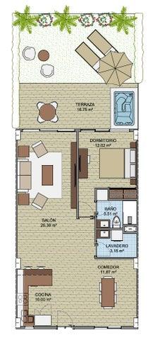 Apartamento La Altagracia>Punta Cana>Bavaro - Venta:234.600 Dolares - codigo: 18-660