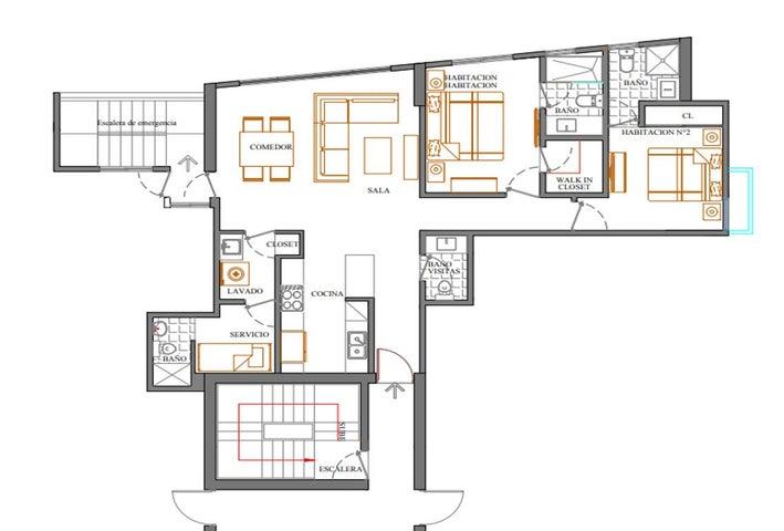 Apartamento Santo Domingo>Distrito Nacional>Bella Vista - Venta:195.547 Dolares - codigo: 18-679