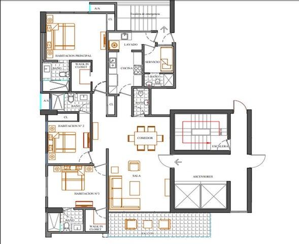 Apartamento Santo Domingo>Distrito Nacional>Bella Vista - Venta:259.024 Dolares - codigo: 18-680