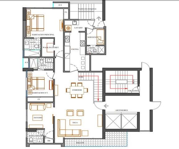 Apartamento Santo Domingo>Distrito Nacional>Bella Vista - Venta:470.591 Dolares - codigo: 18-683