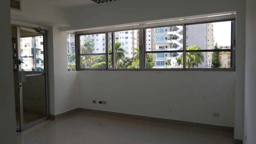 Oficina Santo Domingo>Distrito Nacional>Evaristo Morales - Alquiler:2.136 Dolares - codigo: 18-1433